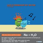 love is friendship set on fire chemistry sodium and water