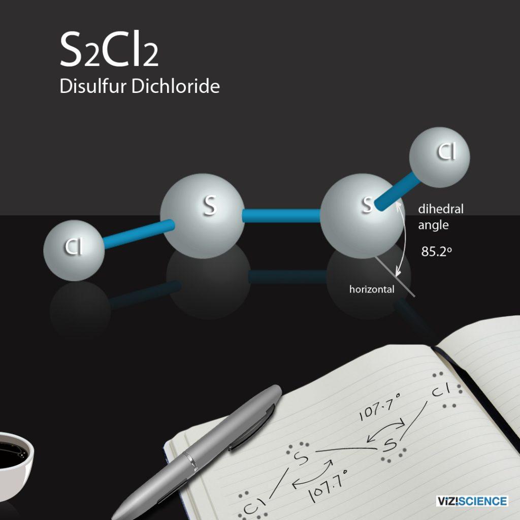 s2cl2 Disulfur Dichloride VSEPR molecular shape