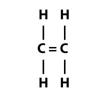 c2h4 carbon to carbon double bond