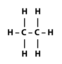 c2h6 - single carbon to carbon bond