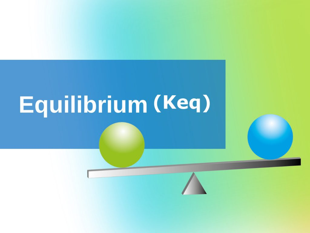 Calculate equilibrium constant Keq reactions high school chemistry