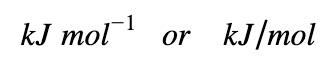 unit of enthalpy of reaction