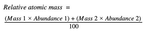 Relative atomic mass - formula